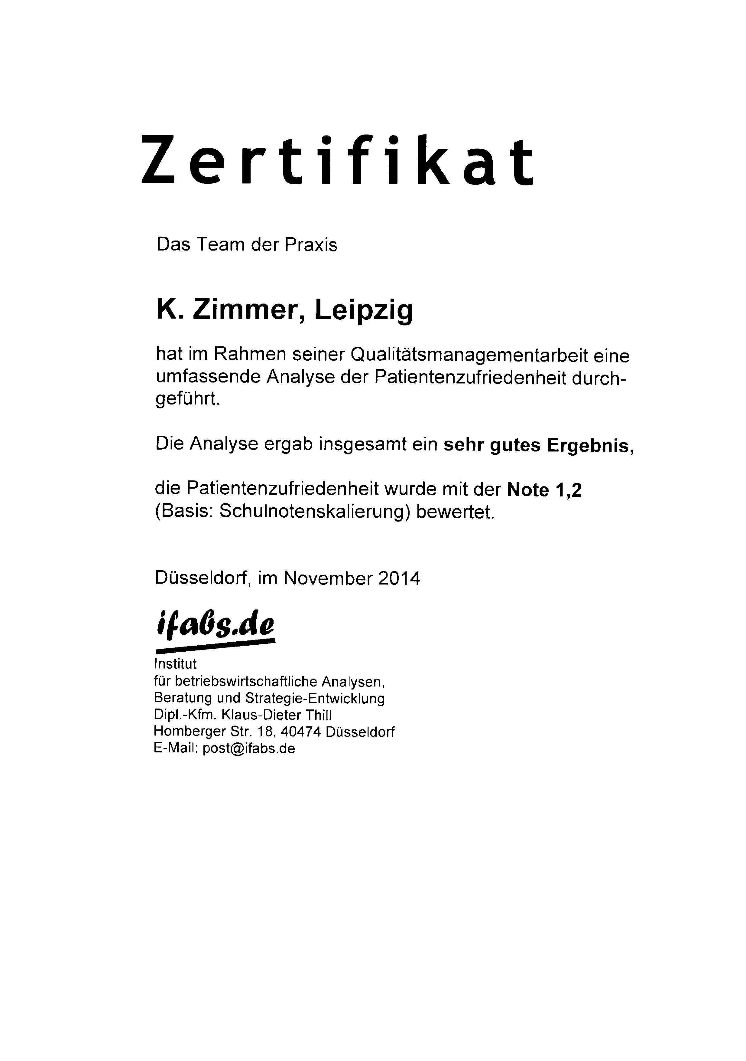 150113_Zertfikat_Netzpatientenbefragung-2014